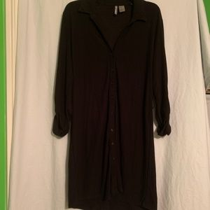 New Directions Black Dress Button Down Size Large